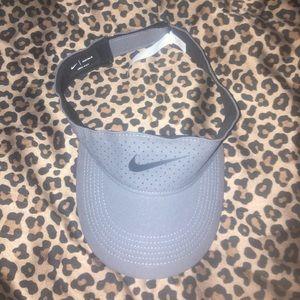 Nike Women's Gray Visor Hat with Black Nike Swoosh NWOT